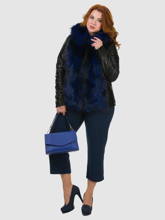 Кожаная куртка эко кожа 100% П/А, цвет черный, арт. 21602728  - цена 10590 руб.  - магазин TOTOGROUP