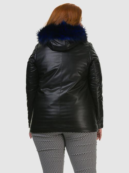 Кожаная куртка артикул 21602730/46 - фото 3