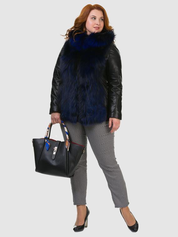 Кожаная куртка эко кожа 100% П/А, цвет черный, арт. 21602730  - цена 11290 руб.  - магазин TOTOGROUP