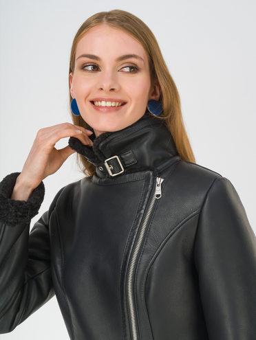 Дубленка эко-кожа 100% П/А, цвет черный металлик, арт. 21810925  - цена 9990 руб.  - магазин TOTOGROUP