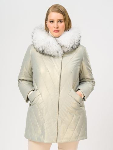 Кожаное пальто эко-кожа 100% П/А, цвет белый металлик, арт. 23109022  - цена 10590 руб.  - магазин TOTOGROUP