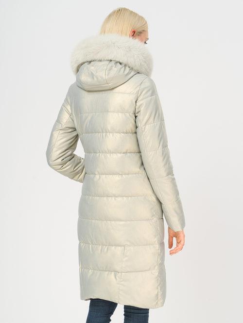 Кожаное пальто артикул 23109241/42 - фото 3
