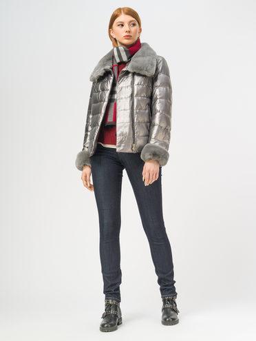 Кожаная куртка эко-кожа 100% П/А, цвет белый металлик, арт. 23109344  - цена 14190 руб.  - магазин TOTOGROUP