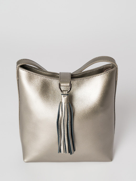 Сумка кожа теленок, цвет желтый металлик, арт. 24006012  - цена 3990 руб.  - магазин TOTOGROUP