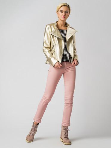 Кожаная куртка эко-кожа корова, цвет желтый металлик, арт. 24006133  - цена 4740 руб.  - магазин TOTOGROUP