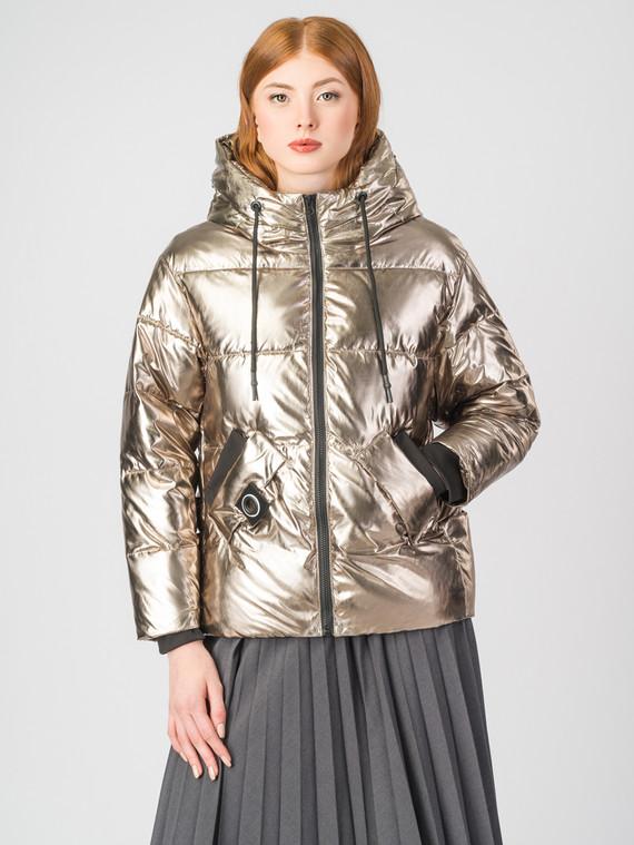 Пуховик текстиль, цвет желтый металлик, арт. 24006473  - цена 6990 руб.  - магазин TOTOGROUP