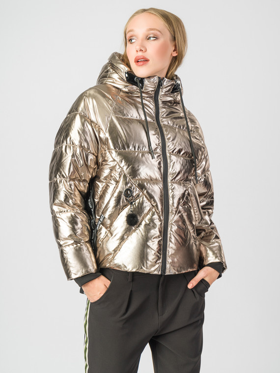 Пуховик текстиль, цвет желтый металлик, арт. 24006513  - цена 6990 руб.  - магазин TOTOGROUP