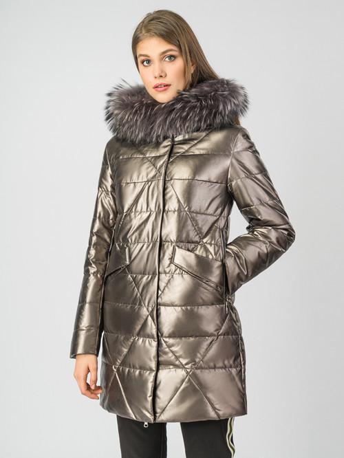 Кожаное пальто артикул 24006971/44 - фото 2