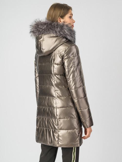 Кожаное пальто артикул 24006971/44 - фото 3