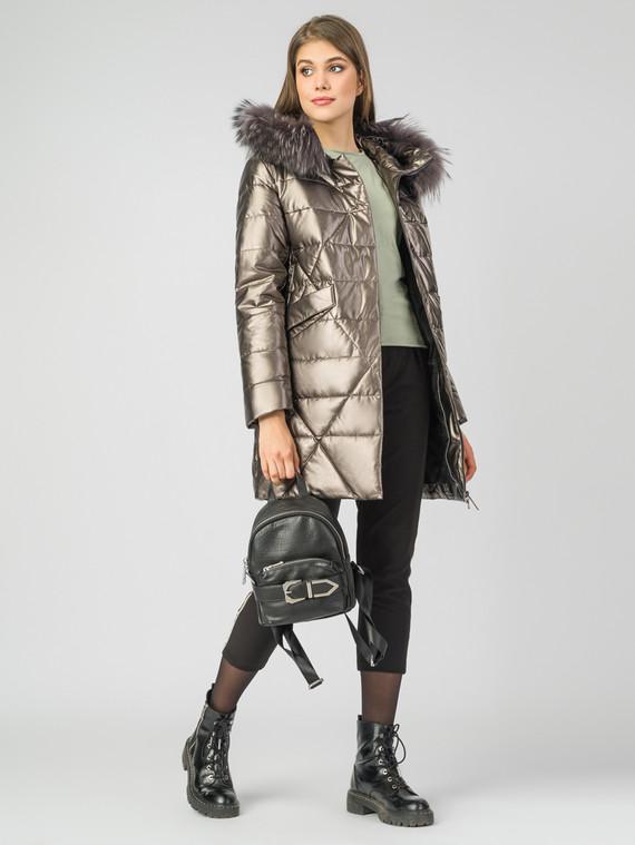 Кожаное пальто эко-кожа 100% П/А, цвет желтый металлик, арт. 24006971  - цена 9990 руб.  - магазин TOTOGROUP