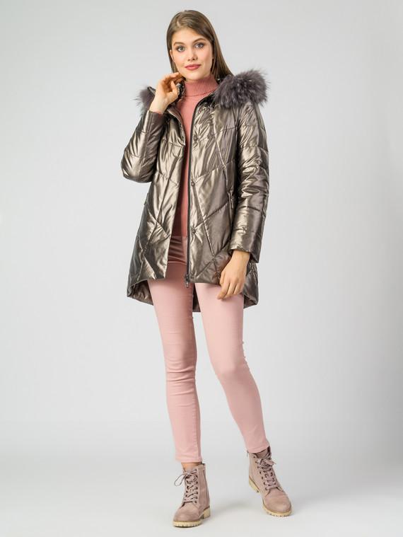 Кожаная куртка эко-кожа 100% П/А, цвет желтый металлик, арт. 24006972  - цена 7990 руб.  - магазин TOTOGROUP