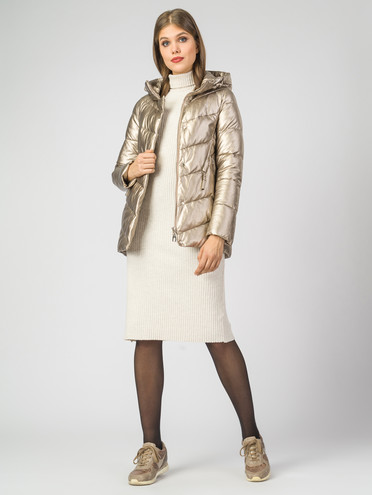 Кожаная куртка эко-кожа 100% П/А, цвет желтый металлик, арт. 24007118  - цена 5590 руб.  - магазин TOTOGROUP