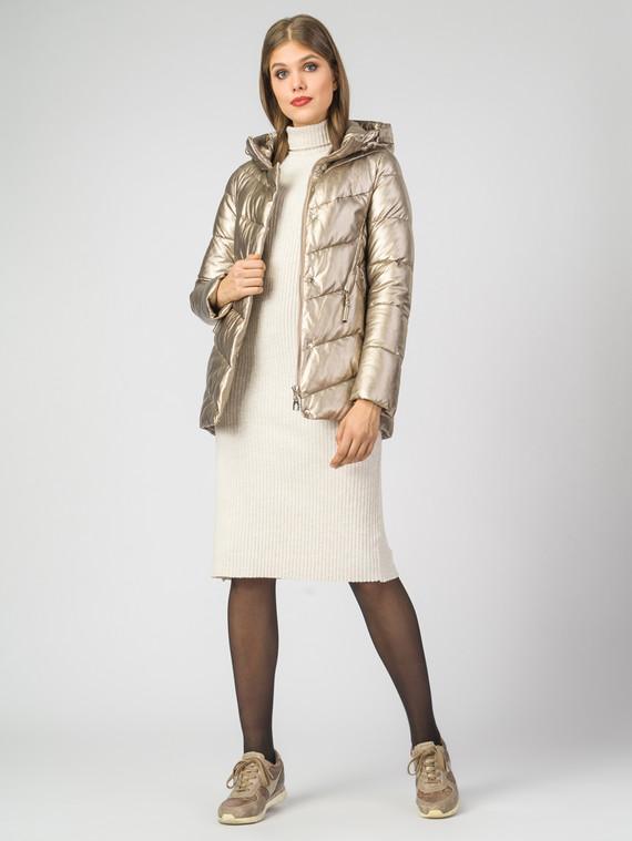 Кожаная куртка эко-кожа 100% П/А, цвет желтый металлик, арт. 24007118  - цена 5290 руб.  - магазин TOTOGROUP