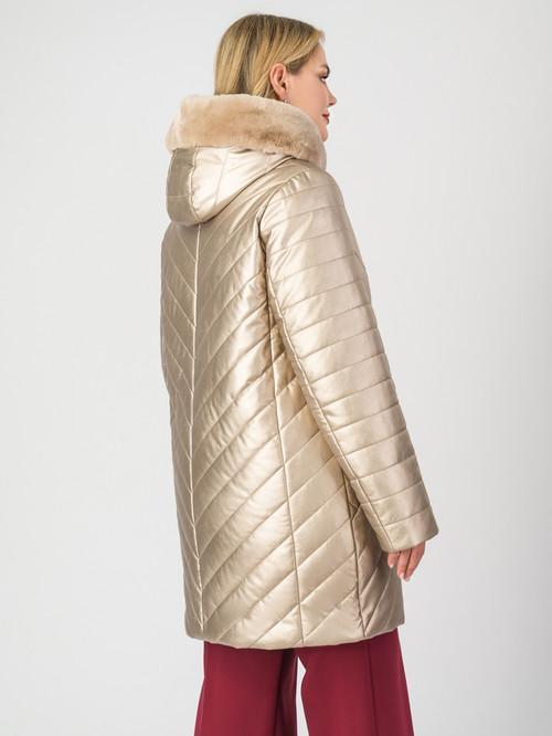 Кожаное пальто артикул 24007307/46 - фото 3