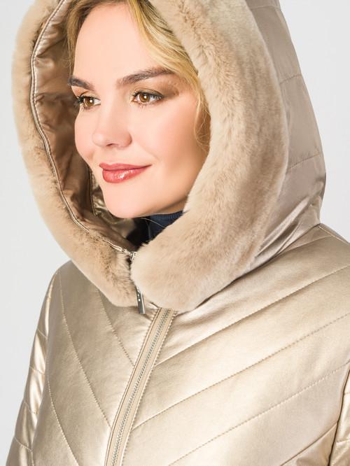 Кожаное пальто артикул 24007307/46 - фото 4