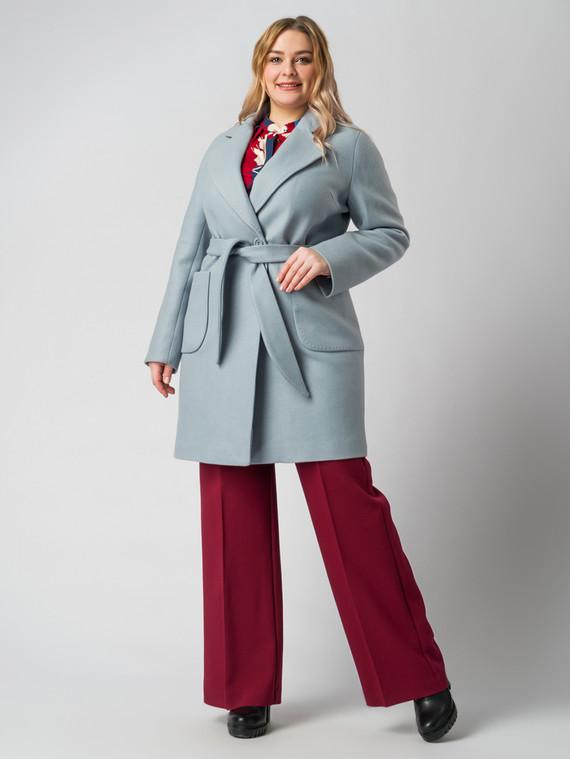 Текстильное пальто 30%шерсть, 70% п.э, цвет голубой, арт. 25005635  - цена 6630 руб.  - магазин TOTOGROUP