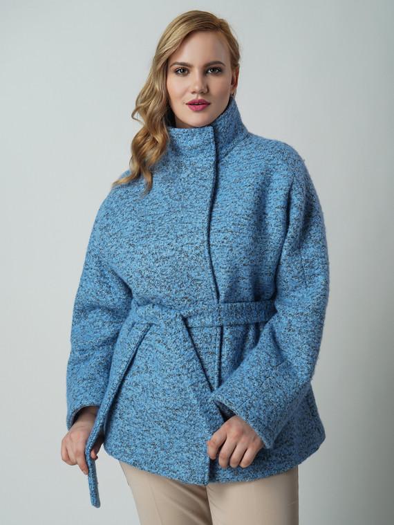 Текстильная куртка 50%шерсть, 50% п/а, цвет голубой, арт. 25005652  - цена 4990 руб.  - магазин TOTOGROUP
