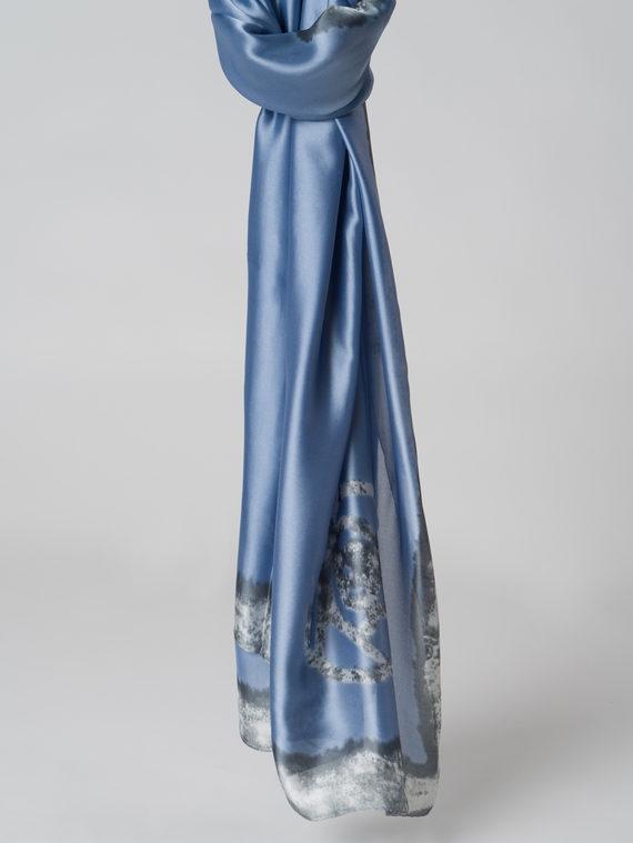 Шарф 100% шелк, цвет голубой, арт. 25005988  - цена 990 руб.  - магазин TOTOGROUP