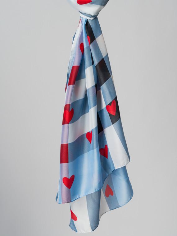 Шарф 100% шелк, цвет голубой, арт. 25005993  - цена 990 руб.  - магазин TOTOGROUP