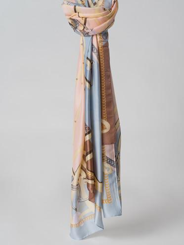 Шарф 100% шелк, цвет голубой, арт. 25005994  - цена 940 руб.  - магазин TOTOGROUP