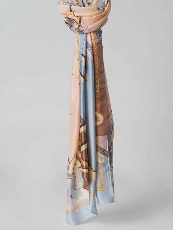 Шарф 100% шелк, цвет голубой, арт. 25005994  - цена 1330 руб.  - магазин TOTOGROUP