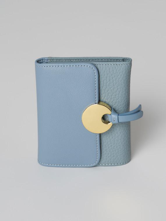 Кошелек кожа флоттер, цвет голубой, арт. 25006043  - цена 1660 руб.  - магазин TOTOGROUP