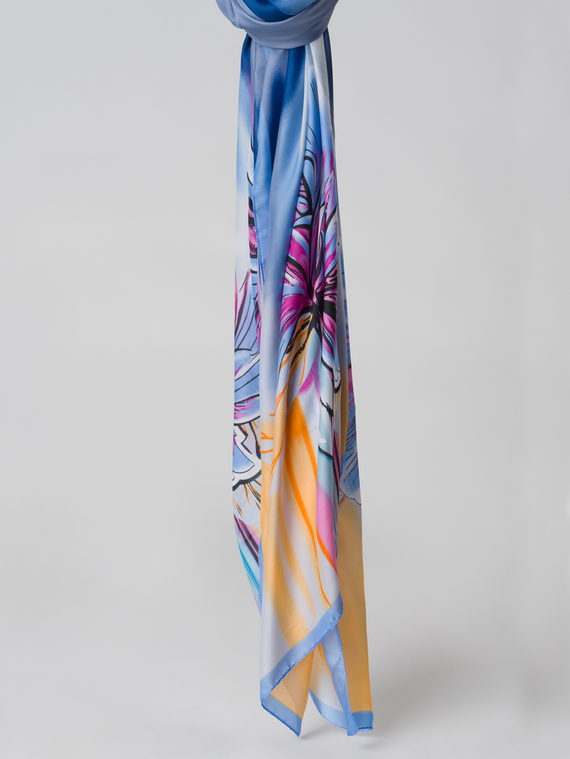 Шарф 80% п\э, 20% шелк, цвет голубой, арт. 25006126  - цена 1260 руб.  - магазин TOTOGROUP