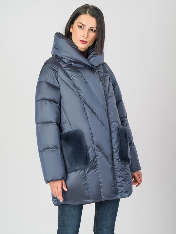Пуховик текстиль, цвет синий, арт. 25006618  - цена 6990 руб.  - магазин TOTOGROUP
