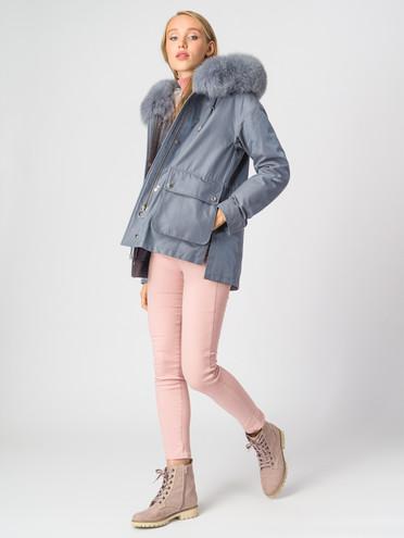 Пуховик текстиль, цвет голубой, арт. 25007055  - цена 7990 руб.  - магазин TOTOGROUP
