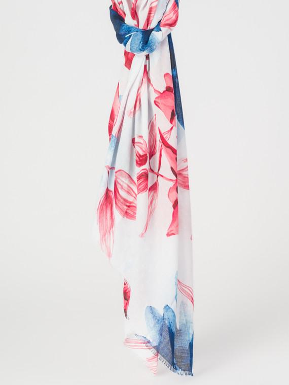 Шарф 30%бамбук,70%хлопок, цвет голубой, арт. 25007678  - цена 940 руб.  - магазин TOTOGROUP