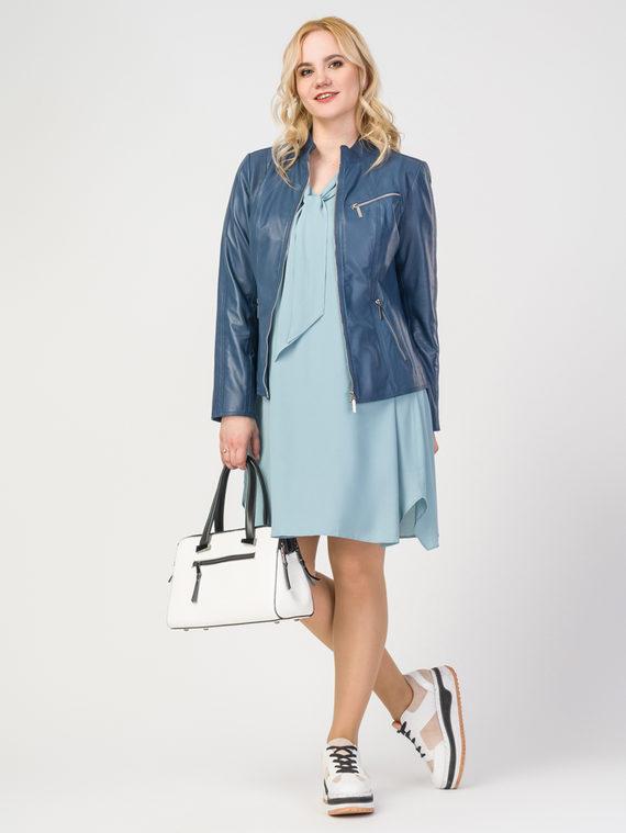 Кожаная куртка кожа , цвет синий, арт. 25106293  - цена 10590 руб.  - магазин TOTOGROUP