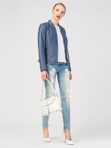 Кожаная куртка кожа, цвет синий, арт. 25106298  - цена 6290 руб.  - магазин TOTOGROUP