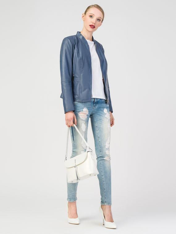 Кожаная куртка кожа , цвет синий, арт. 25106298  - цена 11290 руб.  - магазин TOTOGROUP