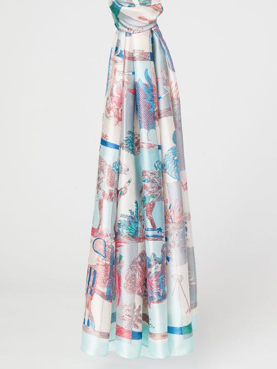 Шарф 100% шелк, цвет голубой, арт. 25107808  - цена 790 руб.  - магазин TOTOGROUP