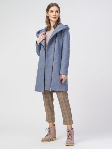 Текстильное пальто 30%шерсть, 70% п.э, цвет голубой, арт. 25107813  - цена 5890 руб.  - магазин TOTOGROUP