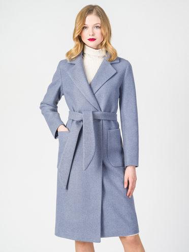 Текстильное пальто 30%шерсть, 70% п.э, цвет голубой, арт. 25107819  - цена 6290 руб.  - магазин TOTOGROUP