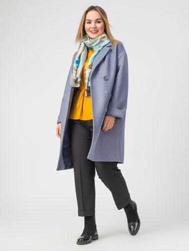 Текстильное пальто 30%шерсть, 70% п.э, цвет голубой, арт. 25107821  - цена 5590 руб.  - магазин TOTOGROUP
