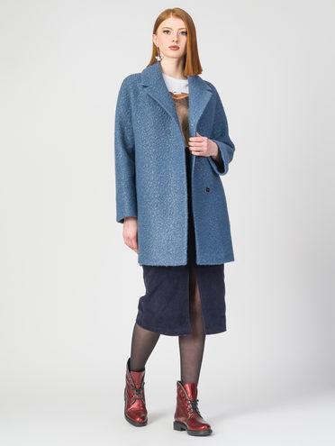 Текстильное пальто 30%шерсть, 70% п.э, цвет голубой, арт. 25107903  - цена 6290 руб.  - магазин TOTOGROUP