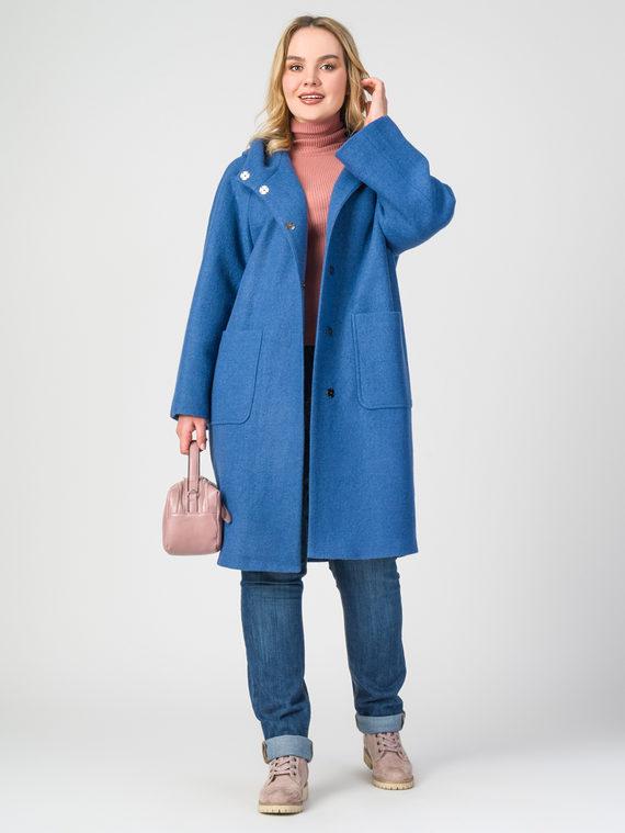 Текстильное пальто 30%шерсть, 70% п.э, цвет голубой, арт. 25107904  - цена 5590 руб.  - магазин TOTOGROUP