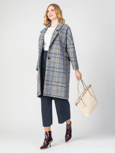 Текстильное пальто 30%шерсть, 70% п.э, цвет голубой, арт. 25107915  - цена 5590 руб.  - магазин TOTOGROUP