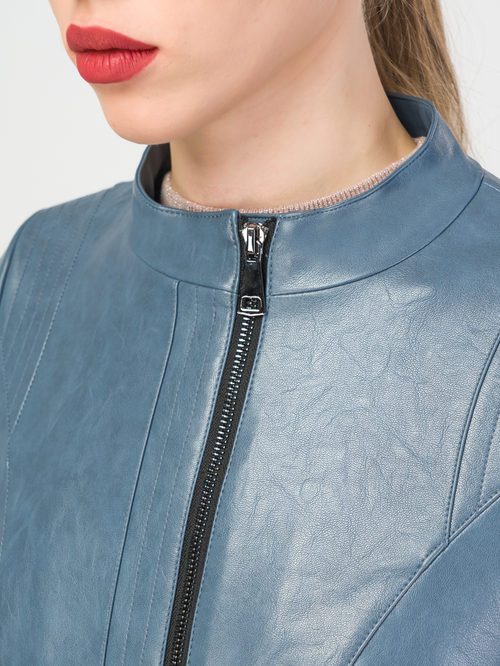 Кожаная куртка артикул 25108127/42 - фото 4