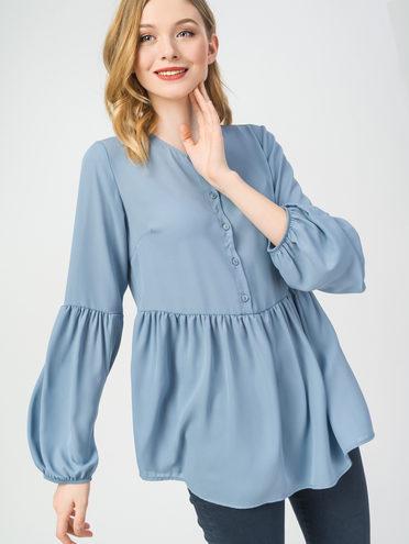 Блуза 100% полиэстер, цвет голубой, арт. 25108317  - цена 490 руб.  - магазин TOTOGROUP