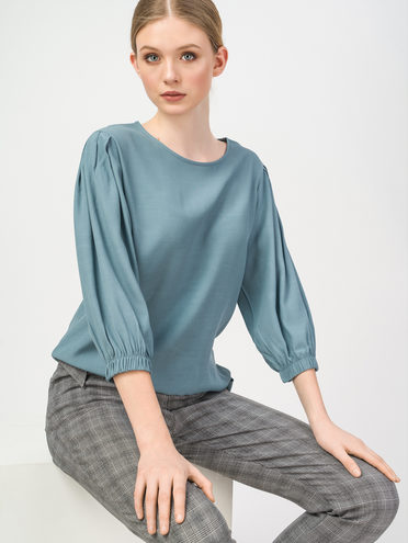 Блуза 100% вискоза, цвет голубой, арт. 25108321  - цена 1570 руб.  - магазин TOTOGROUP