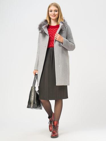 Текстильное пальто 35% шерсть, 65% полиэстер, цвет голубой, арт. 25109208  - цена 6990 руб.  - магазин TOTOGROUP