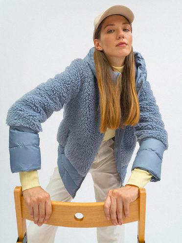 Пуховик эко мех 100% полиэстер, цвет голубой, арт. 25109244  - цена 4990 руб.  - магазин TOTOGROUP