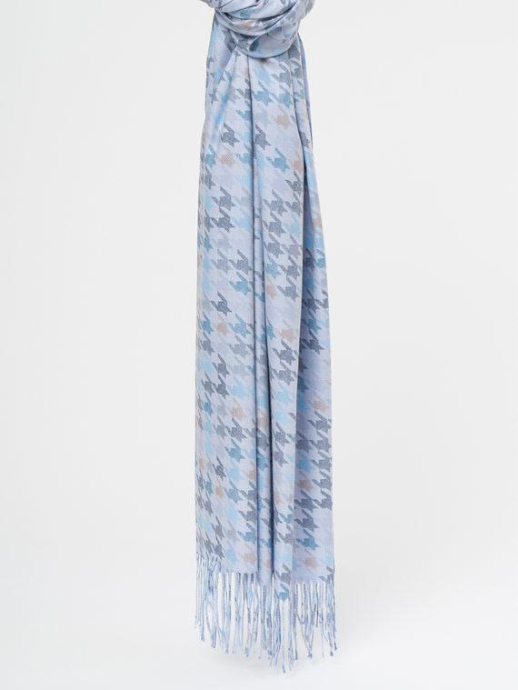 Шарф 70%кашемир,30%п\э, цвет голубой, арт. 25109664  - цена 1190 руб.  - магазин TOTOGROUP