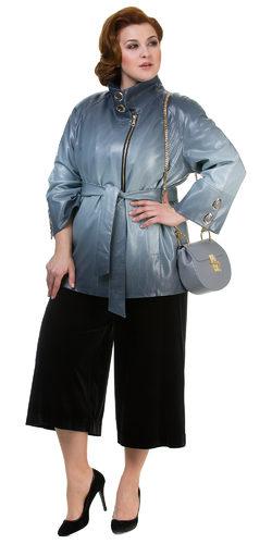 Кожаная куртка эко кожа 100% П/А, цвет серый, арт. 25700440  - цена 6290 руб.  - магазин TOTOGROUP