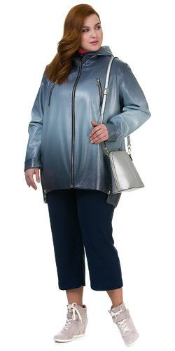 Кожаное пальто эко кожа 100% П/А, цвет голубой, арт. 25700441  - цена 7990 руб.  - магазин TOTOGROUP