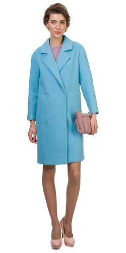 Текстильное пальто 70%шерсть,30%п,а, цвет голубой, арт. 25700497  - цена 5990 руб.  - магазин TOTOGROUP