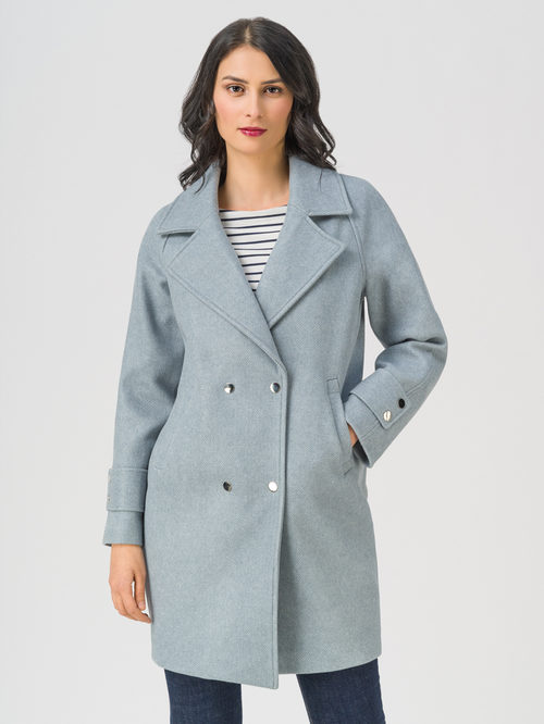 Текстильное пальто артикул 25711366/40 - фото 2